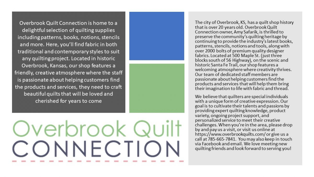 Overbrook Quilt Connection