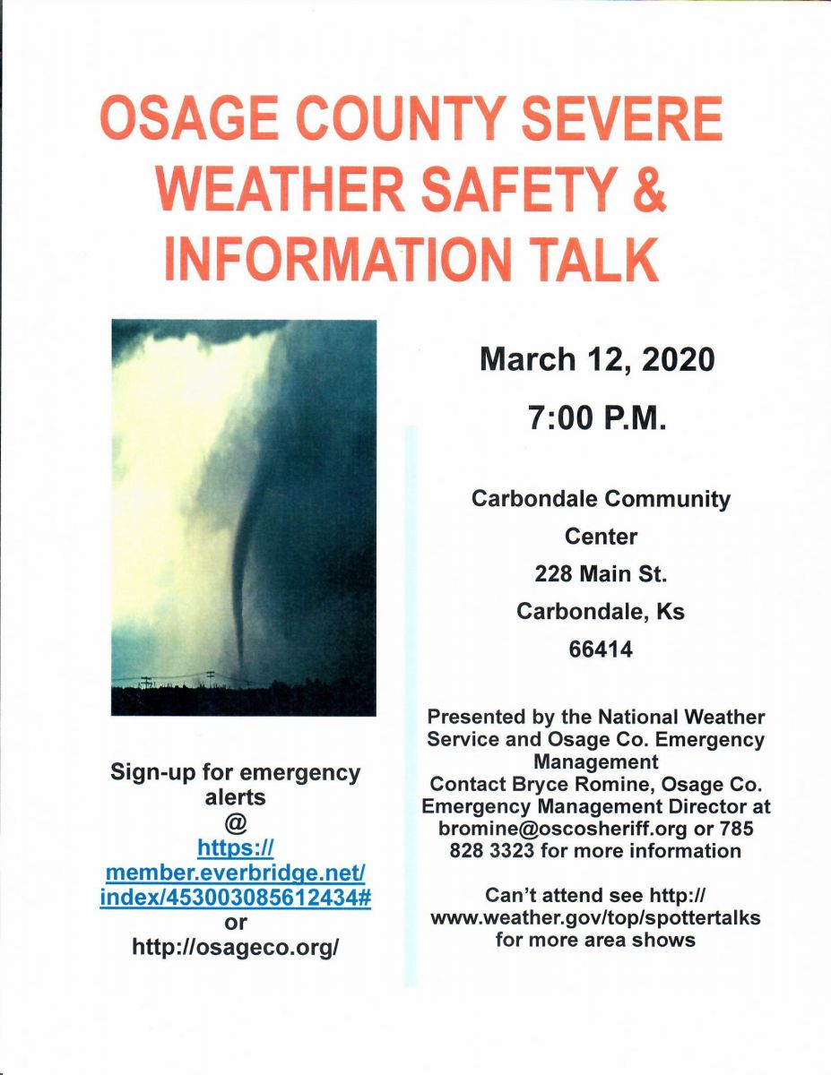 Severe Weather Information Talk