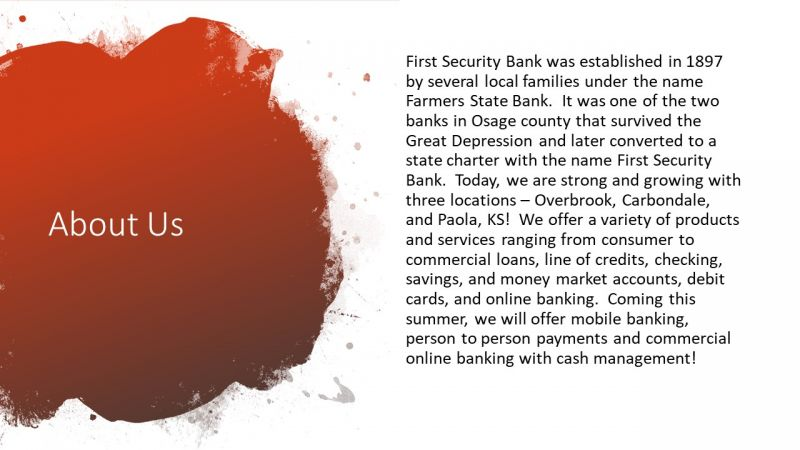 First Security Bank Slide 2